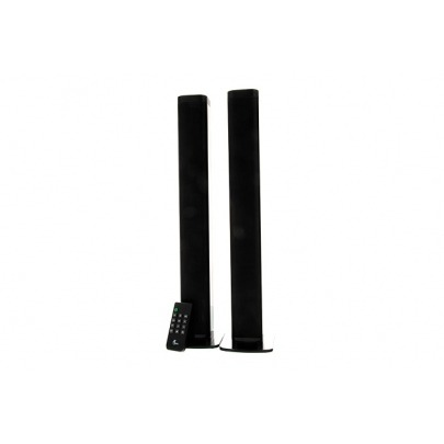 Xtech XTS-810 - ZOOT soundbar - Black - Built-in USB and SD ports to enjoy tracks stored in a flash drive or SD memory card - Coaxial, optical digital input, and an auxiliary 3.5mm jack to stream audi