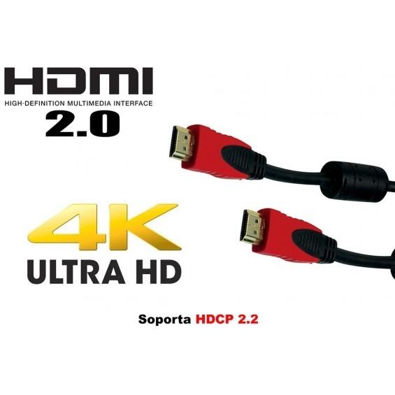 Cable HDMI RED versión 2.0 de 12,5 metros hasta 4k x 2k