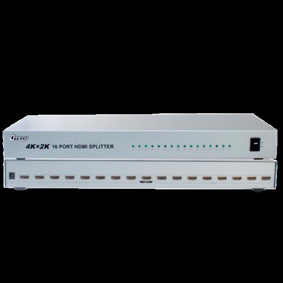 Multiplicador de señal HDMI - 1 entrada HDMI - 16 salidas HDMI - Hasta 4K*2 - Longitud máxima de salida 25 m - Alimentación DC 5 V