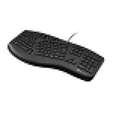 Klip Xtreme - Keyboard - Wired - Spanish - USB - Black - Ergonomic - Scroll