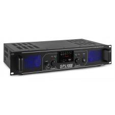 SPL 1000MP3 Amplificador con LEDs azules + EQ Negro