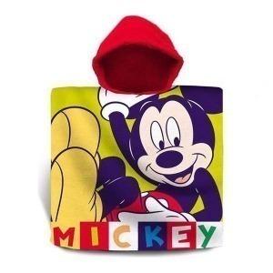 Poncho-Toalla con Capucha Mickey Mouse (60 x 120 cm)
