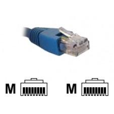 Nexxt - Cable de interconexión - RJ-45 (M) a RJ-45 (M) - 2.1 m - UTP - CAT 6 - trenzado - azul
