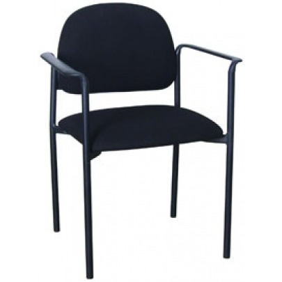 Visitor Chair W/Arm Black