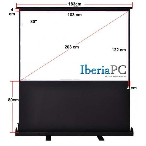 Pantalla Proyección Suelo de 80 y formato 4:3 de 1630 mm x 1220 mm