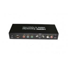 Conversor y Escalador de HDMI a VGA, Componentes de Video (YPbPr) y RCA L/R