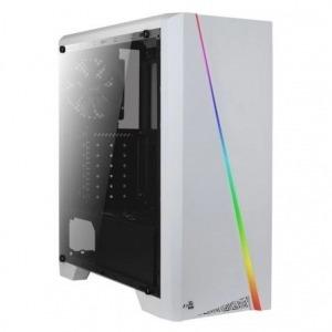 CAJA SEMITORRE ATX/MINI-ITX AEROCOOL CYLONW - LED RGB - INT 2X3.5/2X2.5 - 1XUSB 3.0/2XUSB 2.0 + HD AUDIO/MIC + LECTOR MICROSD/SD - VENT 120MM - BLANCA