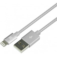 Klip Xtreme - USB cable - 4 pin USB Type A - 1 m - Pure silver - Braided