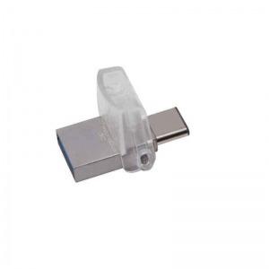 Memoria USB Kingston DTDUO3C/64GB         64 GB Plata Negro
