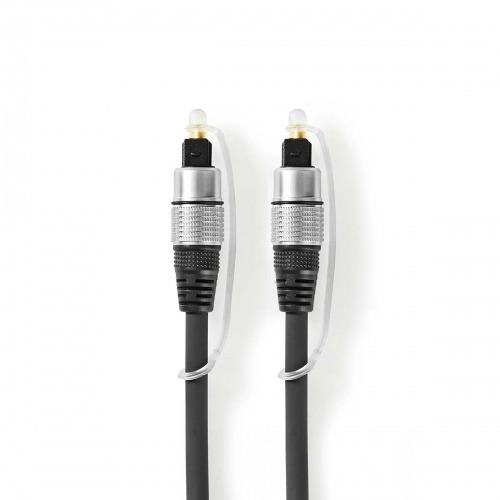 Cable de audio óptico | TosLink Male | TosLink Male | 10.0 m | Redondo | PVC | Antracita | Caja de Plástico