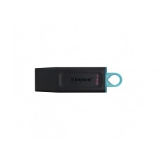 Kingston DataTraveler Exodia - Unidad flash USB - 64 GB - USB 3.2 Gen 1 - negro con turquesa