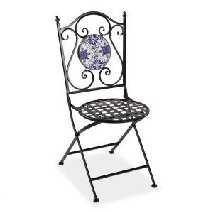 Silla de Jardín Azulejo Metal (50 x 92 x 39 cm)