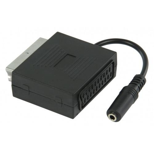 Adaptador SCART Macho Hembra y Jack 3.5 de audio hembra