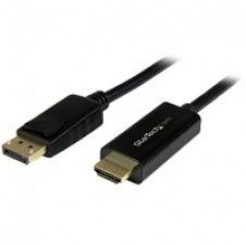 StarTech.com Cable de 3m Adaptador DisplayPort a HDMI - 4K 30Hz - Cable Conversor DP a HDMI Ultra HD - Cable de vídeo - DisplayPort (M) a HDMI (M) - 3 m - compatibilidad con 4K