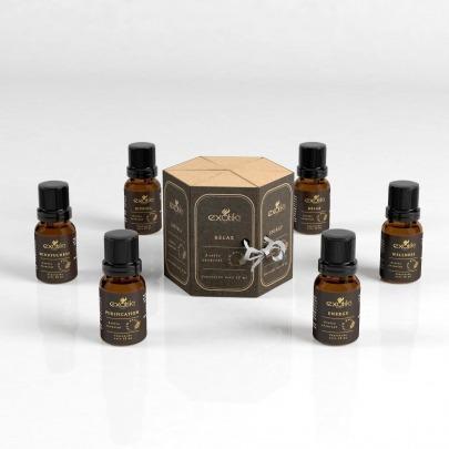 Aceites Esenciales Kit de 6 Diferentes Aceites Marca Exotik Nat Holistic Blends