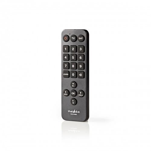 Control Remoto Universal   Preprogramado   Número de dispositivos: 2   Botones grandes   Infrarrojo   Negro
