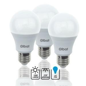 Pack 3 Bombillas LED A60 / 15W /1350LM / E27 / Luz Fría / ELBAT