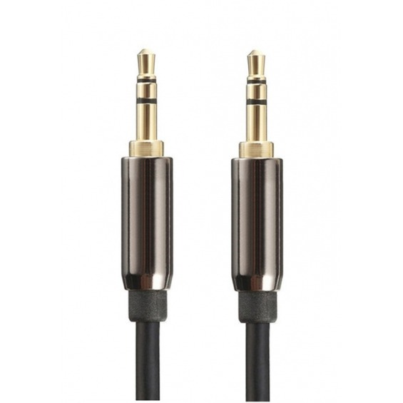 Cable de audio estéreo jack 3.5mm macho a macho de 1.5m apantallado