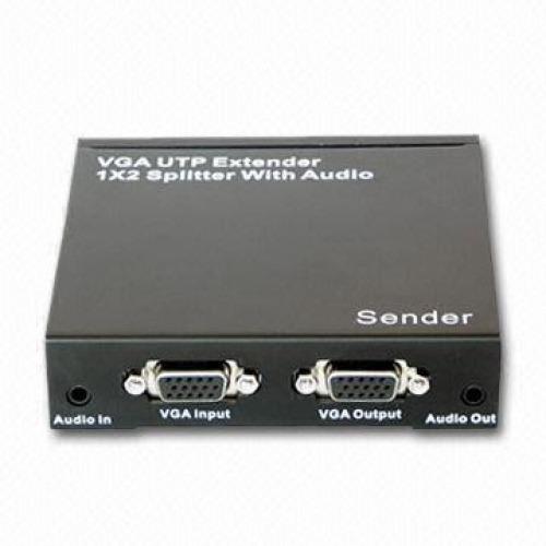 Extender VGA via UTP + Splitter 1x2 con Audio