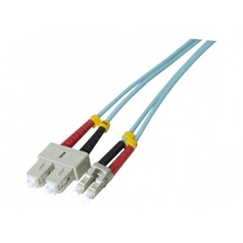 Cable de fibra óptica LC a SC Duplex multimodo OM3 de 1m