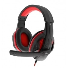 Xtech - Headset - Wired - XTH- 551 - Igneus - Gaming - Backlit: Red - Connection type: 3.5mm (TRRS) and USB for power. Includes a 3.5mm female splitter adapter to dual 3.5mm plugs (TRS) - Compatible p