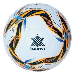 Balón de Fútbol Luanvi FFCV Sintético Blanco/Azul (Talla 1)