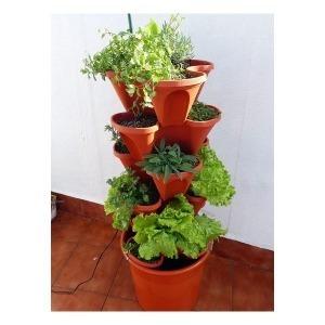 Kit de Cultivo Hidropónico Irisana Ecogarden EG10 Plástico Terracota