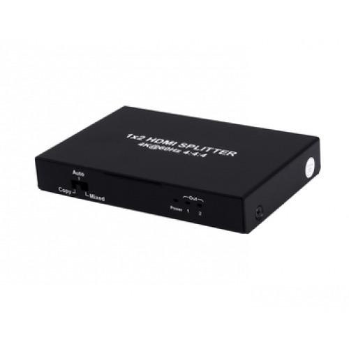 SPLITTER HDMI 2.0 1X2 4K 60Hz UHD, 18GB, HDR, EDID