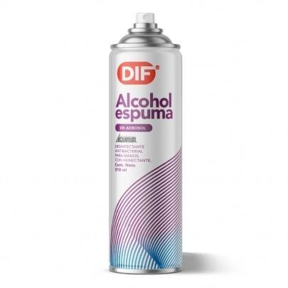 Alcohol en Espuma para Manos Marca DIF 210ml