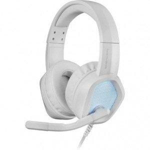 Auriculares Gaming con Micrófono Mars Gaming MH320/ Jack 3.5/ Blancos