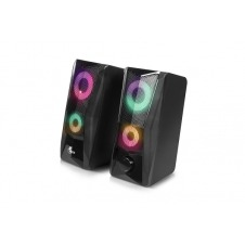 Xtech - Incendo Speakers - 2.0-channel - Black - Gaming - Led lights - USB powered