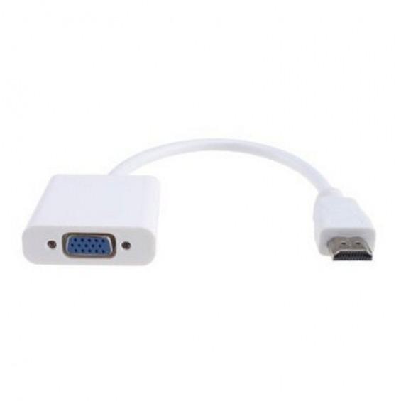 Conversor de HDMI a VGA con audio y alimentación