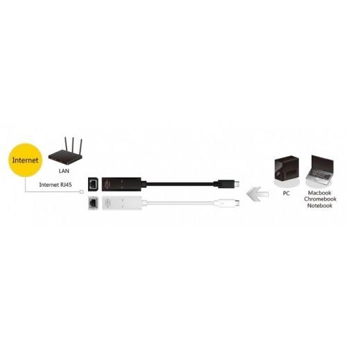 Adaptador de USB 3.1 conector Tipo C a Ethernet Gigabyte