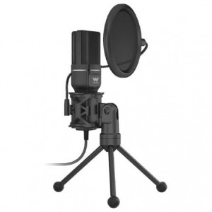 Micrófono con Trípode y Pop Killer Woxter Mic-Studio 60/ USB 2.0