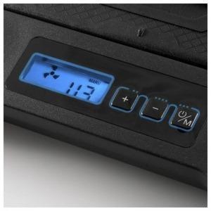 """Soporte para Portátil con Ventilador NGS GCX-400 GCX-400 17"""" LED Negro Azul"""