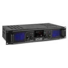 SPL 500MP3 Amplificador con LEDs azules + EQ Negro