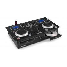 Vonyx CDJ-500 CD Doble USB Reproductor Profesional Con Amplificador 200W. 172810
