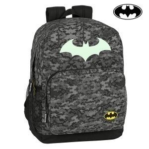 Mochila Escolar Batman Night Negro Gris