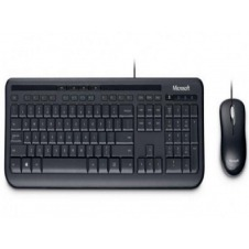 Microsoft Wired Desktop 600 for Business - Keyboard and mouse set - USB - Spanish - Latin America - black