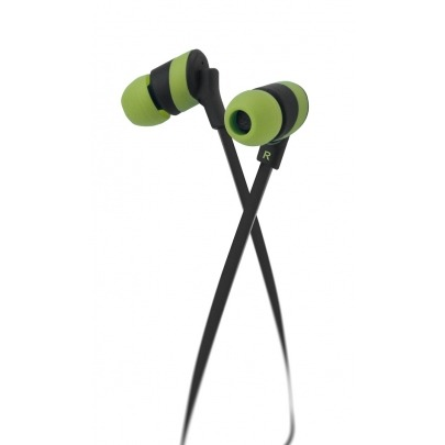 Klip Xtreme - KHS-625GN - Earphones - For Home audio / For Portable electronics / For Tablet - Wired - 3.5mm - Green