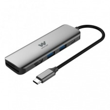 HUB USB MULTIPUERTO WOXTER TYPE-C ADAPTER 70 - 2*PUERTOS USB 3.0 - HDMI - LECTOR TARJETAS SD/MICRO SD - CABLE 15CM