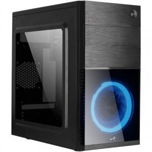 CAJA SEMITORRE AEROCOOL CS105BL - ATX - 1*5.25 / 2*3.5 / 1*2.5 - 1*USB 3.0/1*USB 2.0 - VENTILADOR LED AZUL