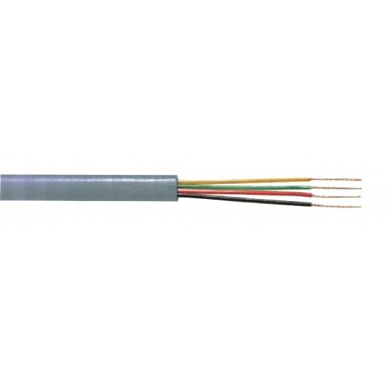 Bobina cable telef Redondo 4 hilos 100m