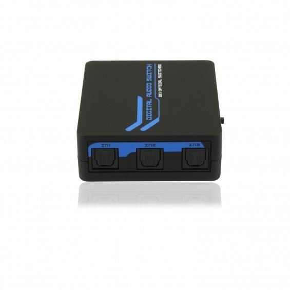 Multiplicador de audio digital TOSKLINK de 1 entrada a 3 salidas