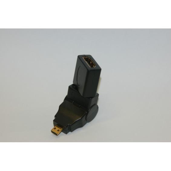 Adaptador HDMI hembra - Micro HDMI Macho giratorio + rotatorio