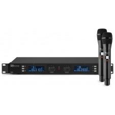 PD632H 2x 20 Canales Digital UHF Micro Inalambrico con 2 micros