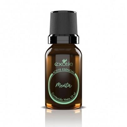 Aceite Esencial de Menta de 12ml Marca Exotik Nat