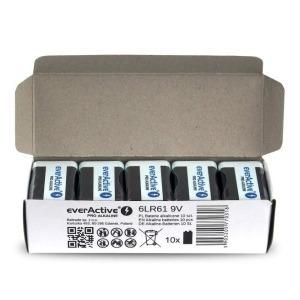 Pilas Alcalinas EverActive 6LR61 6F22 9 V (10 pcs) (Reacondicionado A+)