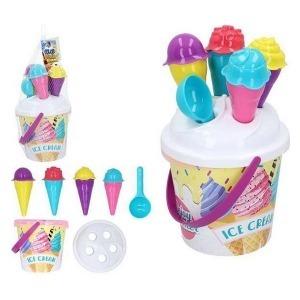 Cubo de Playa Ice Cream Color Beach (18 cm) (11 pcs)