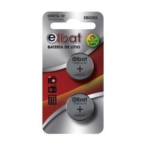 Pack 2 Pilas Litio CR2016 ELBAT